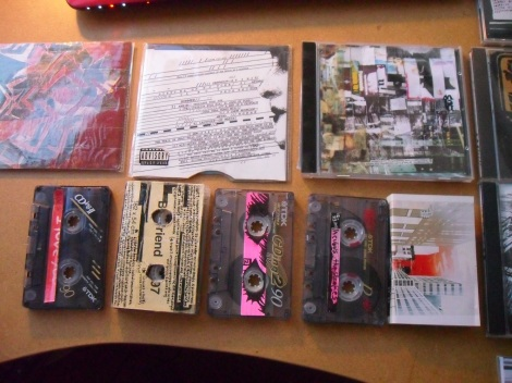 Steve's mix tapes and CDs